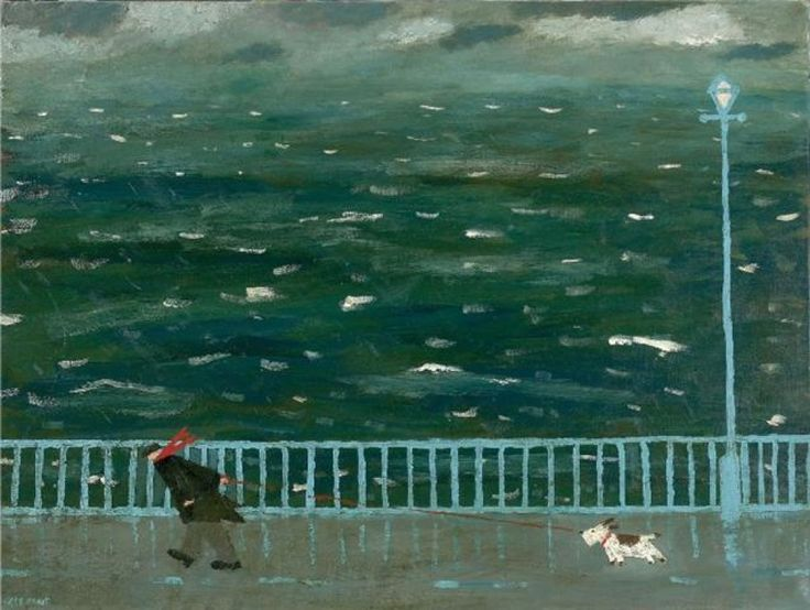 Gary Bunt kind of like walking against the nasty snow