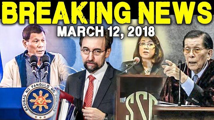 BREAKING NEWS TODAY MARCH 12 2018 PRESIDENT DUTERTE l UN CHIEF l CHIEF J...
