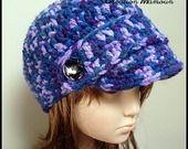 Bonnet - Casquette crocheté main : Mode filles par mamountricote