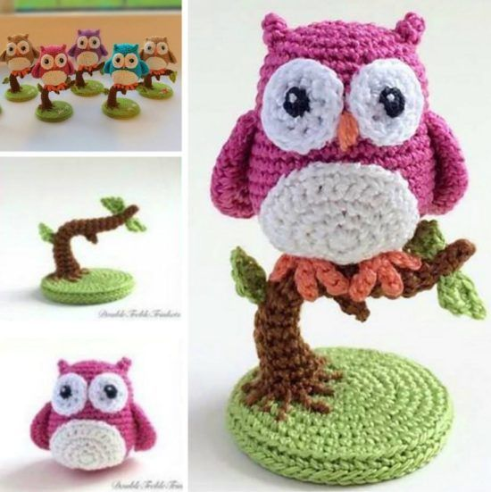 Amigurumi Owl Family : 17 Best ideas about Owl Crochet Patterns on Pinterest ...