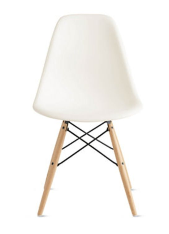 Eames Molded Plastic Dowel Leg Side Chair.  Image Via Design Within Reach.