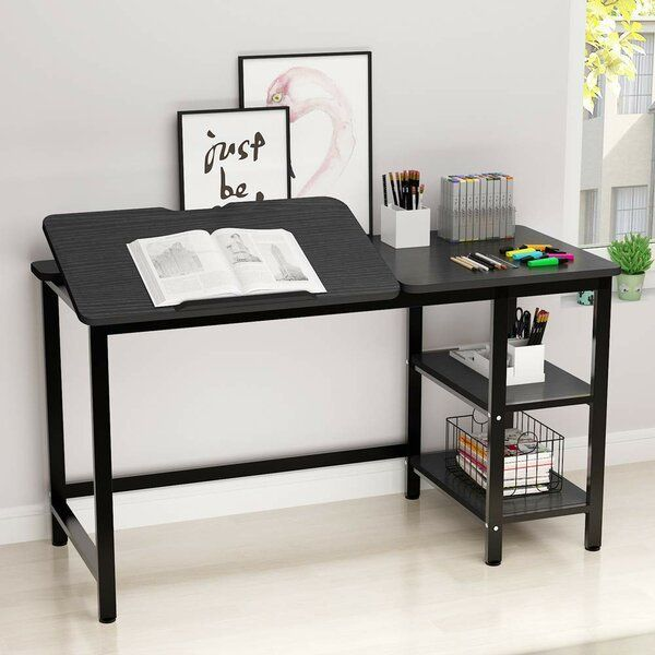Large Computer Desk With Storage Shelf Drafting Table Craft Drawing Desk