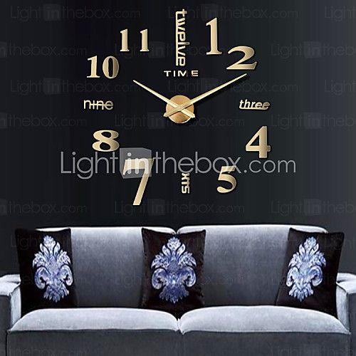 3d большой домашний декор умственная поделки творческий часы личности стены для гостиной 12s015-х годов 2017 - $14.99