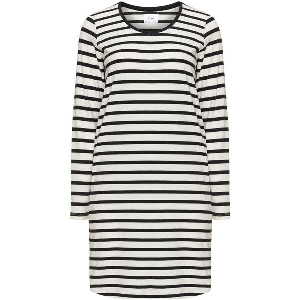 Zizzi Cream / Black Plus Size Striped fine knit jumper ($41) ❤ liked on Polyvore featuring tops, sweaters, cream, plus size, plus size jumpers, long sleeve tops, plus size long sleeve tops, plus size tops and long sleeve sweater