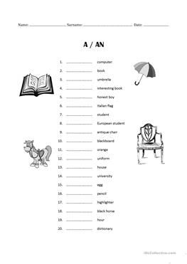 A/AN exercise/test