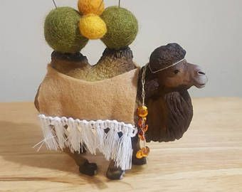 Cute Camel Pincushion~sewing craft~ embroidery~ unique craft gift