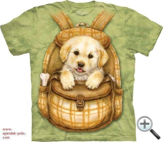 1-2 nap alatt kiszállítható KÖLYÖK KUTYA A ZSÁKOMBAN The Mountain gyermek póló XL méret.