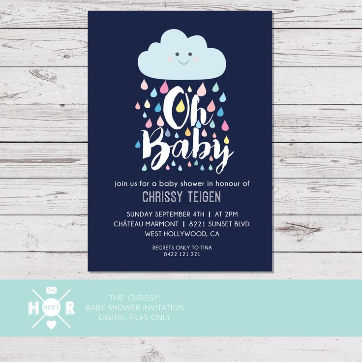 Printable - The 'Chrissy' Baby Shower Invitation | Gender Neutral | Joint Party by hudsonmeetrose on Etsy