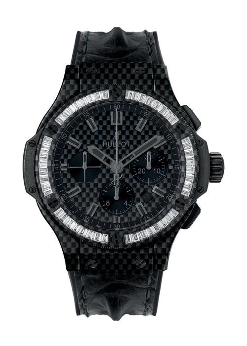 Big Bang Carbon Bezel Baguette Diamonds 44mm Chronograph watch from Hublot