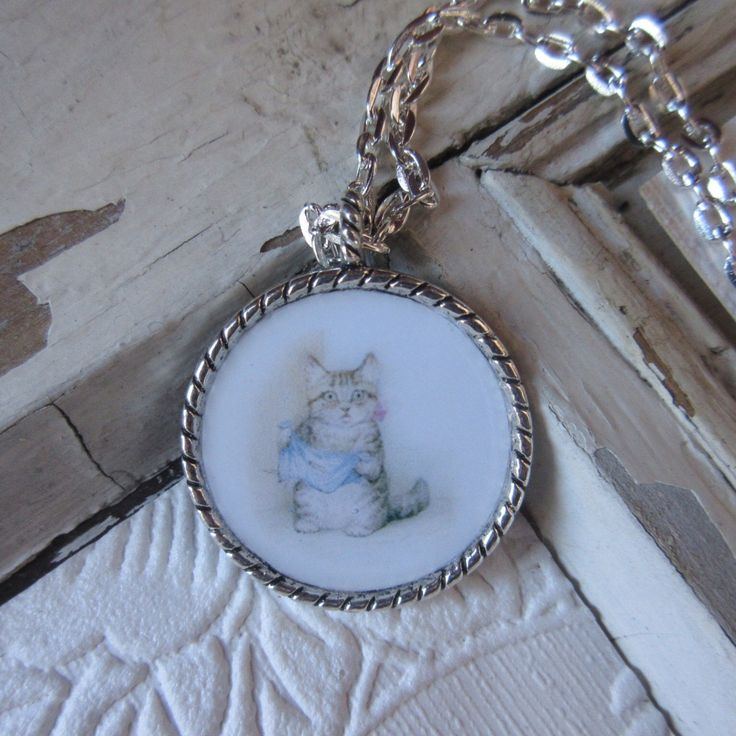 jewelry necklace Beatrix Potter Tale of Peter Rabbit Miss Moppet kids toddlers babies Easter gift girls birthday nursery rhyme classic novel by Rosebudbabydesigns on Etsy