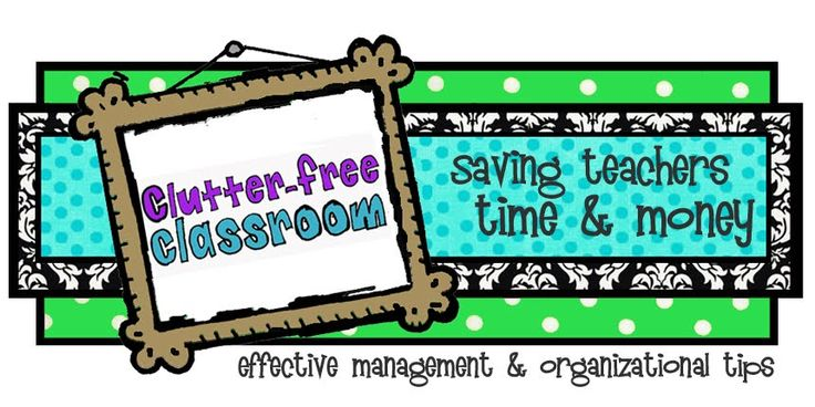 Great organization ideas for the classroom
