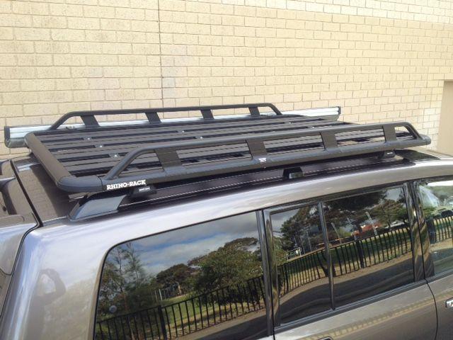 Mitsubishi Pajero Lwb With Roof Rails Ns Nt Nw Nx 11 06on Rhino Rack Pioneer Tradie 1928mmx1236mm Roof Rack World Rhino Roof Racks Mitsubishi Pajero Roof Rails