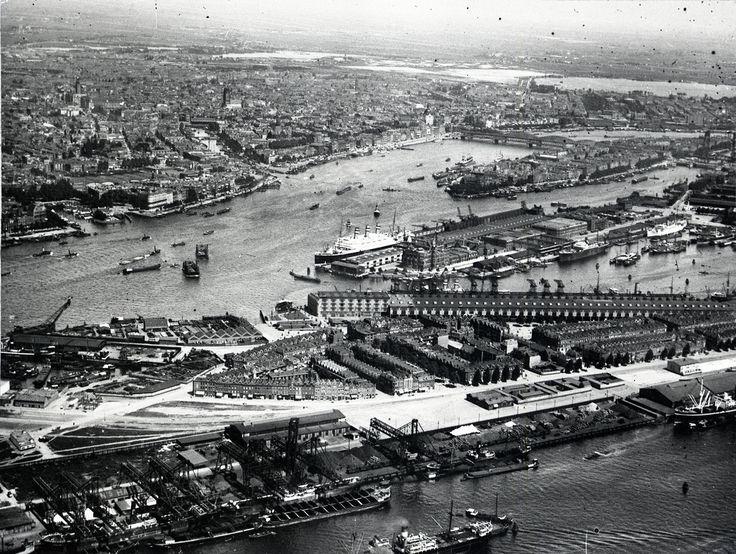 luchtfoto vanaf Rotterdam Zuid