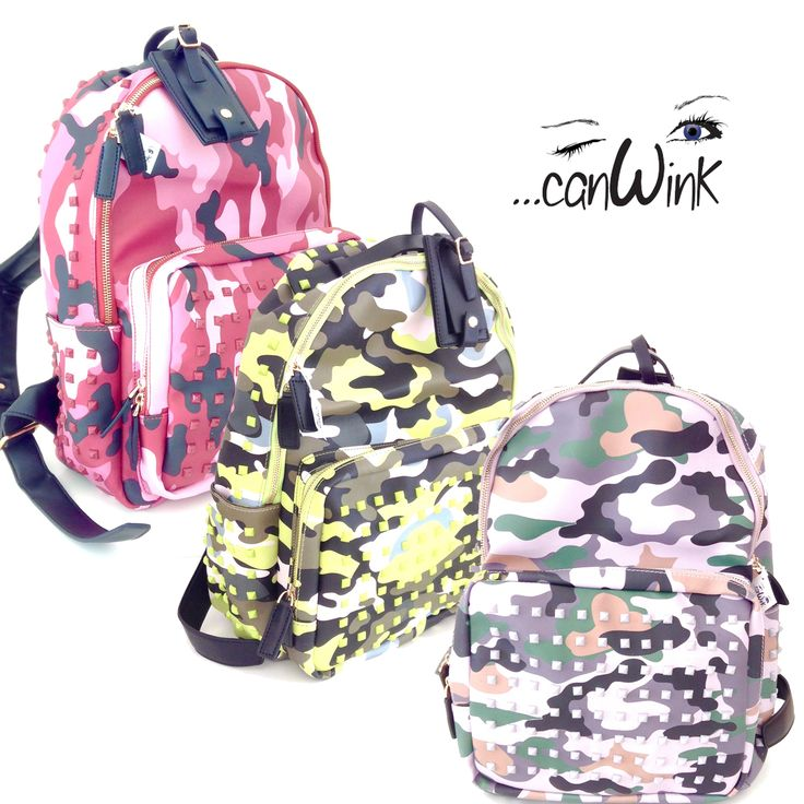 Zaino mimetico!  Per essere sempre alla moda www.canwink.com #canwink #canwinkbijoux #moda #fashion #style #chic #trendy #amazing #cute #girls #man #yellow #pink #grey #zone #shopping #online