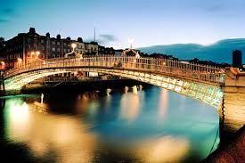 Ha'penny bridge, County Dublin, Ireland