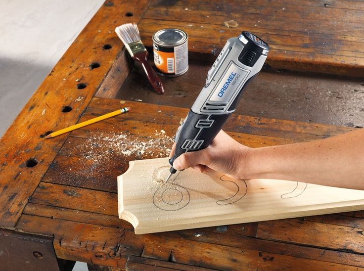 Dremel 8200 with Engraving Cutter