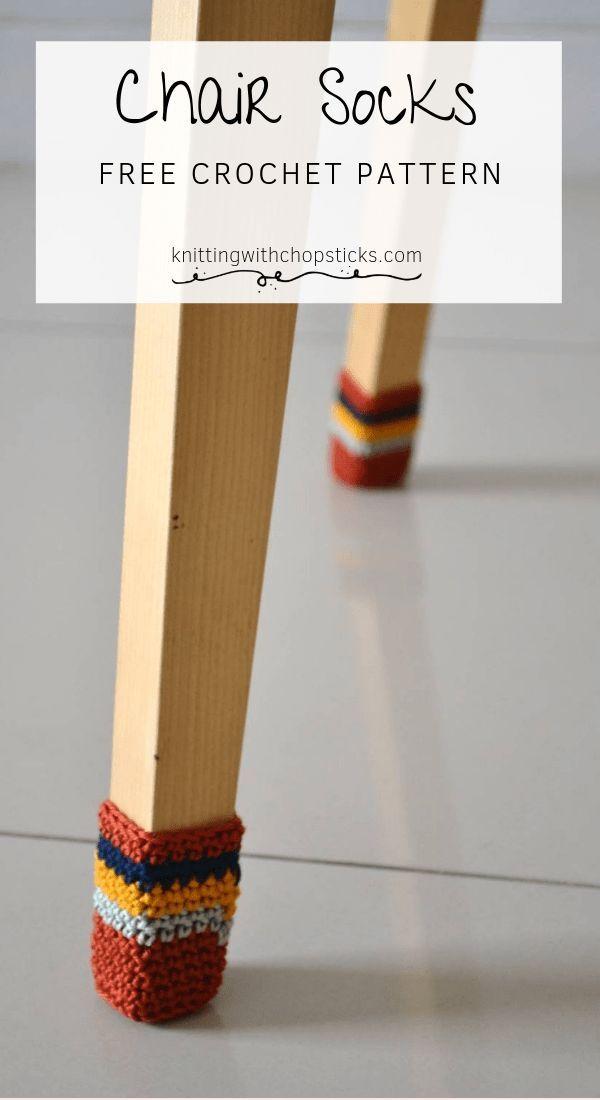 Chair socks free crochet pattern, #Crochet #Free # crochet pattern #Socks #chair