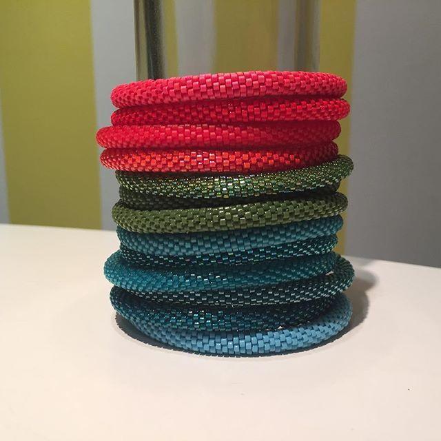 WEBSTA: Stacked! #bracelet #project #diy #beadcrochet #colors