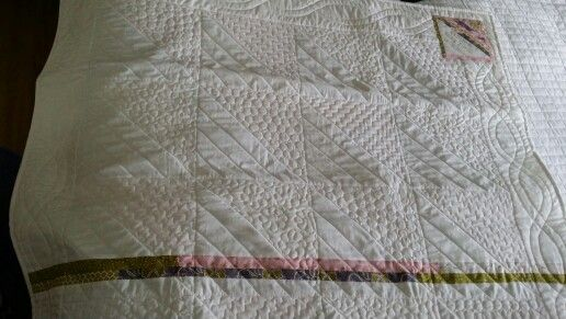 Back of Baby Zara quilt. Quilting by me