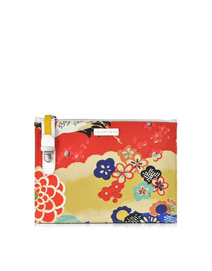 Carven Multicolor Printed Fabric Pouch at FORZIERI