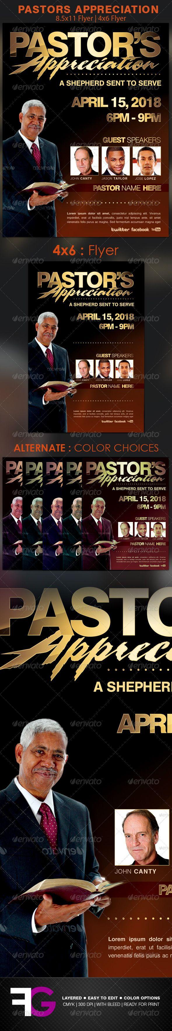 pastors appreciation church flyer template