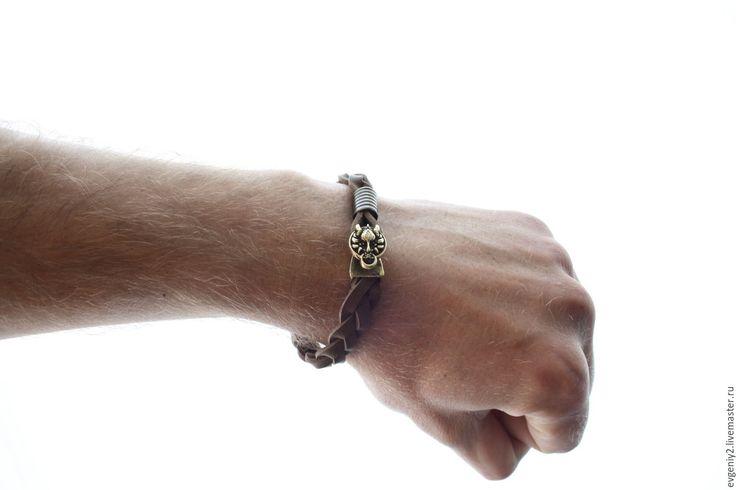 Купить Махес - комбинированный, мужской подарок, мужской браслет, мужской, акссесуары, браслеты, браслеты из кожи