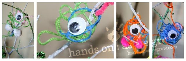 Halloween Craft: Yarn Monsters | hands on : as we grow