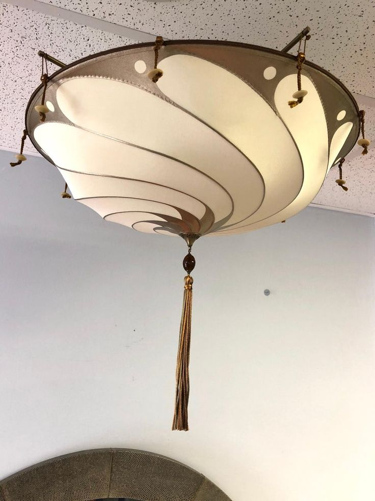 Fortuny Flush Mount Silk Scudo Chandelier For Sale At 1stdibs Chandelier For Sale Chandelier Pendant Lights Flush Mount Chandelier