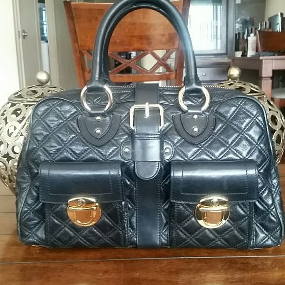 Marc jacobs black handbag  SALE Elegant beautiful handbag, barely shows any signs or wear this is an original gorgeous bag. Some tarnishing see pic. Marc Jacobs Bags Satchels