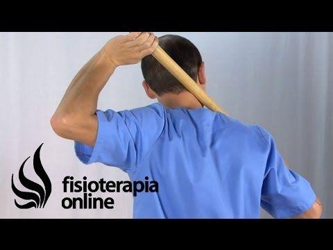 Auto-masaje de cuello, hombros y cervicales con palo. - YouTube