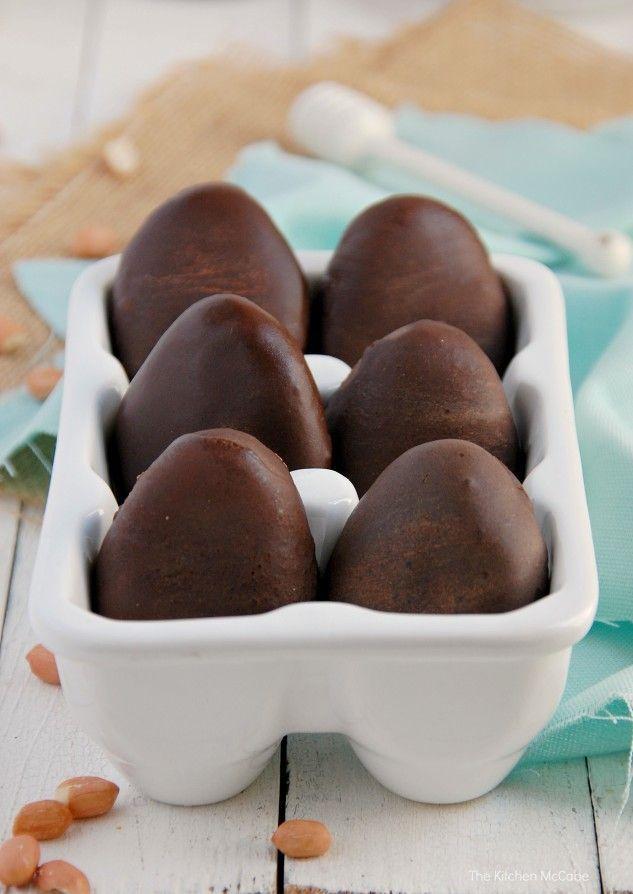Healthy Chocolate Peanut Butter Eggs{raw & vegan}. Gluten-free, Dairy-free   thekitchenmccabe.com