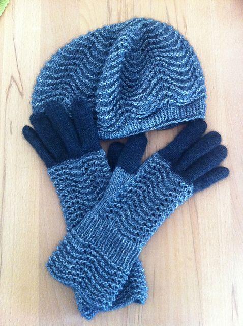 Ravelry: Muriel-SH's Mütze + Handschuhe Winterwellen
