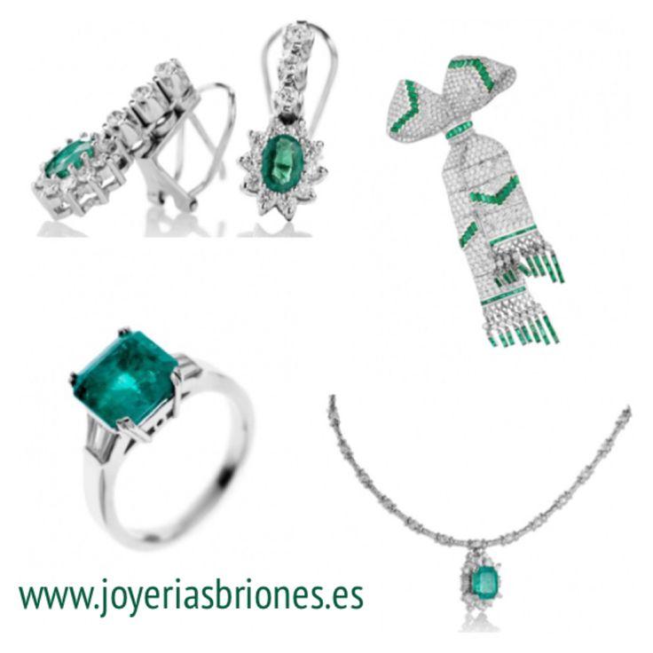 Diamantes y esmeraldas.