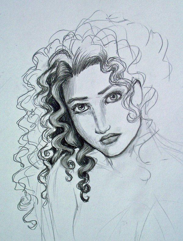 Curly hair study... by Melibells.deviantart.com on @deviantART