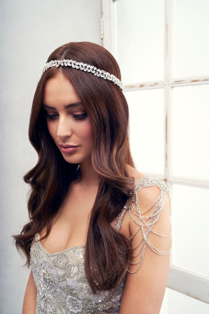 Anna Campbell Bridal Accessories and Jewellery | Vintage-inspired Phoenix hand-beaded headpiece