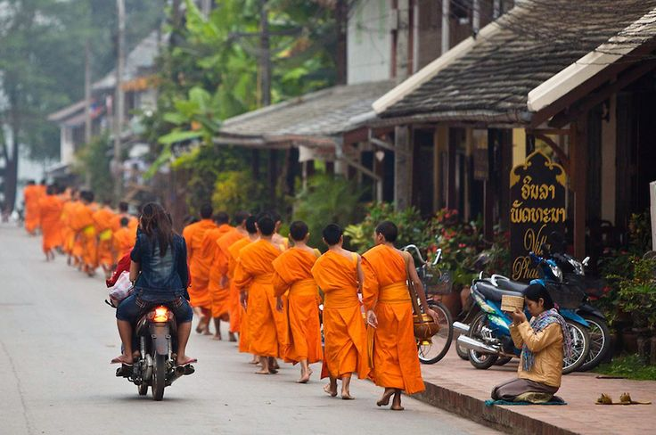 Monks & a Motorbike, Kenna Klosterman Photography // Love the juxtaposition and leading lines.