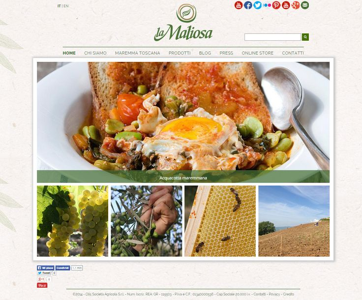 Il nuovo sito della Fattoria La Maliosa è online. Come in agricoltura c'è voluto impegno, tempo, rispetto e ricerca del bello e del futuro http://fattorialamaliosa.it/