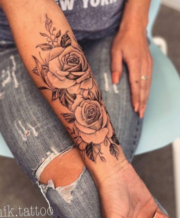 Rosen frau tattoo unterarm ▷ 1001+Unterarm