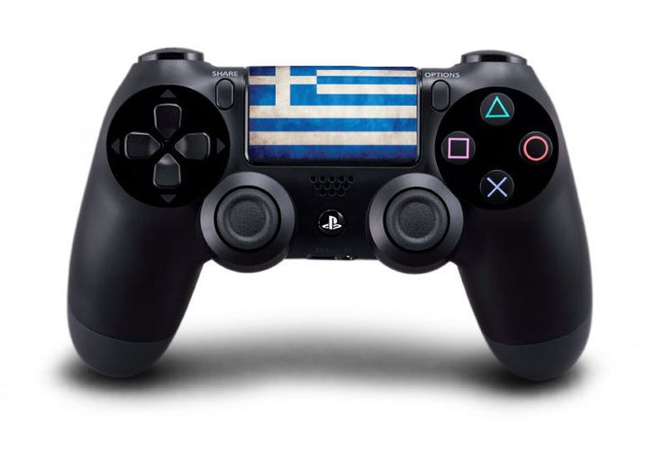 Greece / Greek Flag Playstation 4 (PS4) Controller Touchpad Decal