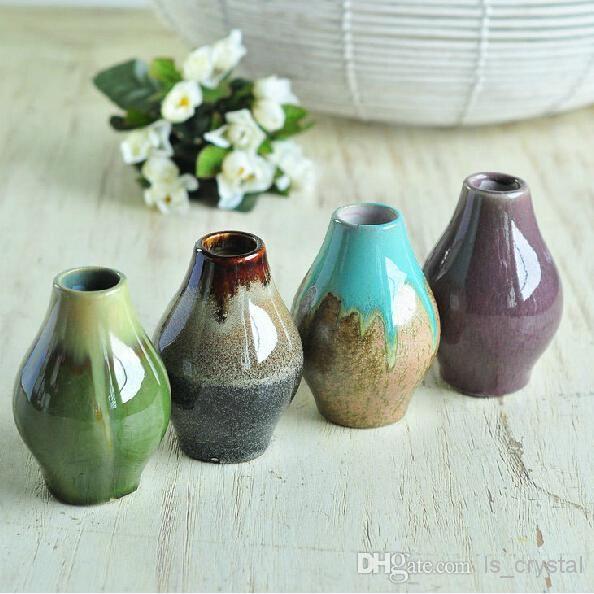 европейский классический керамическая ваза для цветов прекрасный мини цветок бутылка база настольное