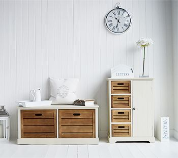 Storage Furniture With Cupboard And 4 Drawers In Hallway. A Range Of French Style  Furniture