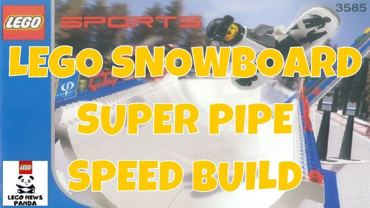 SNOWBOARD SUPER PIPE - LEGO SPORTS 3585 Speed Build - LEGO GRAVITY GAMES