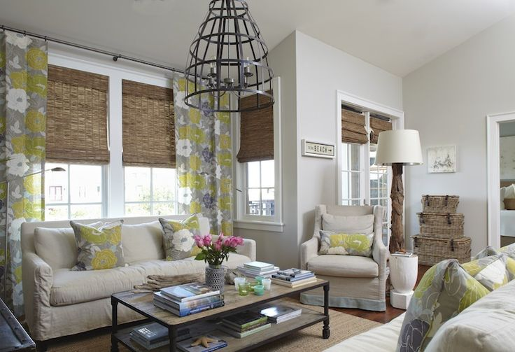 White Roman Shades Farmhouse