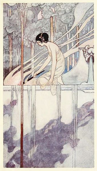 Charles Robinson -(1870–1937) - brother of Heath Robinson - illustrator of childrens books. Living as he did through the Art Noveau period, many of his delightfull illustrations are embellished with flaura and fauna.