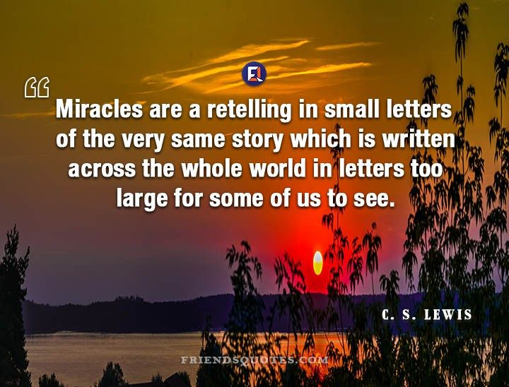 All Things Come From One From Miracles By C S Lewis Cs Lewis Quotes Joy Quotes Tolkein Quotes