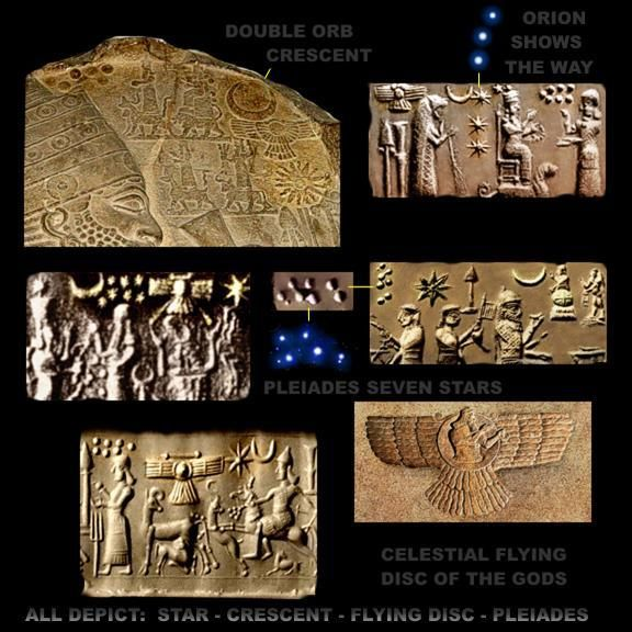 "Sumerian clay tablet referencing the anunnaki. They were ""sky people"" that came and made humanity and taught us various pools of knowledge:"