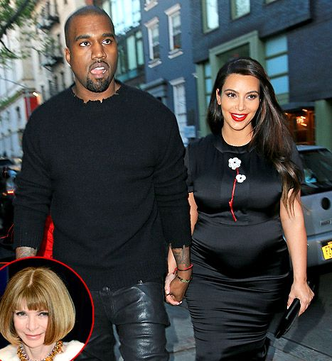 Kim Kardashian and Kanye West dined at Anna Wintour's NYC home