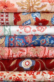Block Printed Quilts by SOMA, Jaipur, India. Block printing is an ancient Indian…