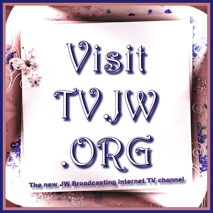 TV.JW.ORG the new JW Broadcasting internet TV channel!!! Spread the word. Only available in English.