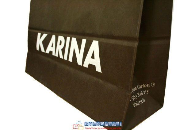 bolsas de papel de lujo con logo